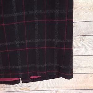9e890ecd9 Talbots Skirts | Tarten Plaid Pencil Skirt Black Wool Sz 10 | Poshmark